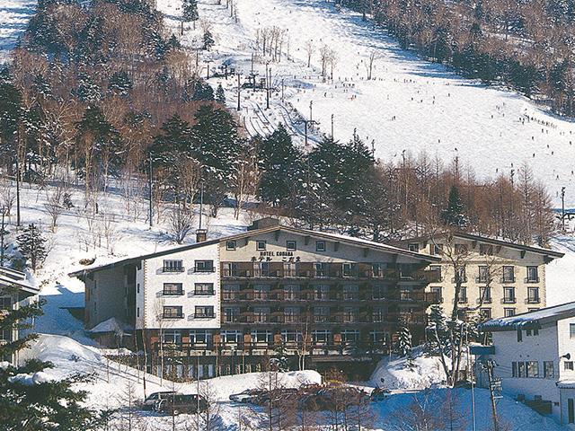 ■ マイカーで行く  志賀高原スキー場 ホテルこだま 夕朝食付